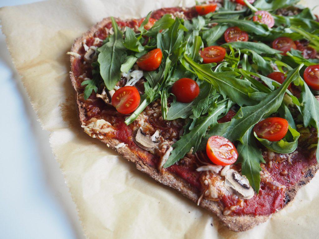 Gesunde und fettarme Pizza