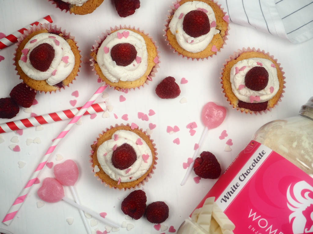 Valentinstags Special: Himbeer-Mascarpone-Cupcakes